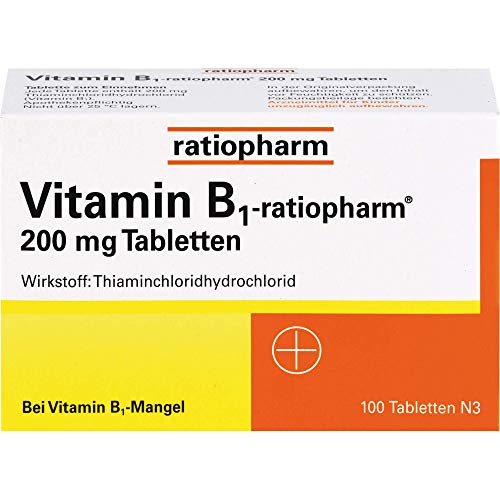 Vitamin B1-ratiopharm 200 mg Tabletten, 100 St....