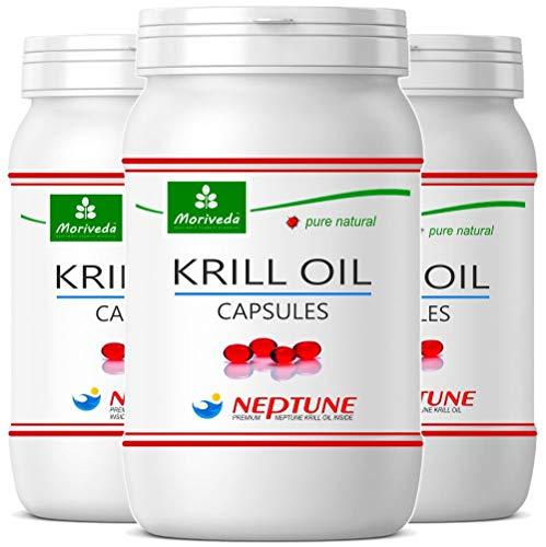 MoriVeda® Neptune Krillöl 270 Kapseln mit...