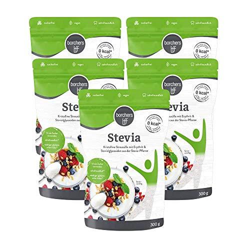 5 x borchers bff Stevia Kristall, mit Erythrit,...