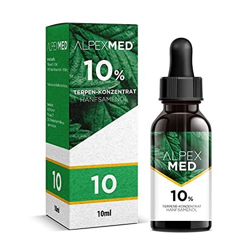 ALPEX-MED 10 Prozent Terpene mit Hanfsamenöl 10ml...