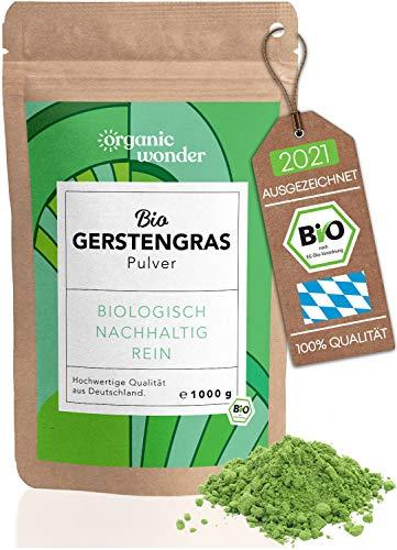 Gerstengras Pulver Bio 1000g I direkt aus Bayern I...