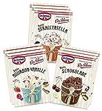 Dr. Oetker Eispulver 9er Probier-Set, alle Sorten Bourbon-Vanille, Schokolade, Stracciatella - Zubereitung ohne Eismaschine