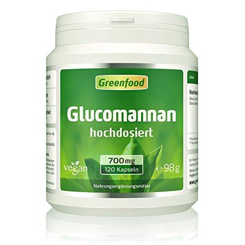 Glucomannan, 700 mg, hochdosiert, 120 Kapseln –...