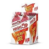 HIGH5 Energy Gel Power Gel, schnell und dauerhafte Energie im leicht zu öffnenden Portionsbeutel, mit natürlichem Fruchtsaft – Multipack 20x40g (Beere)