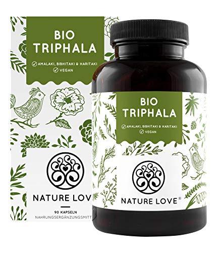 NATURE LOVE® Bio Triphala - Hochdosiert mit 500mg...