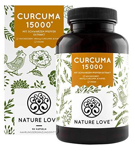 NATURE LOVE® Curcuma Extrakt - Hochdosiert mit...
