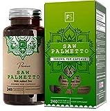 FS Sägepalmenextrakt Hochdosierte Kapseln   Saw Palmetto 3000mg 20:1 Extrakt mit Zink - 240 Vegane Kapseln Für Prostata Gesundheit   Milch, Gluten und Allergen Frei   Nicht GVO   ISO-Zertifiziert
