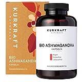Kurkraft® Original Bio Ashwagandha (240 Kapseln mit je 660mg) - hochdosiert - Echte indische Schlafbeere - Vegan, Laborgeprüft, Deutsche Produktion