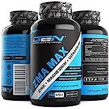 ZMA MAX - 180 Kapseln - Hochdosiert - Zink + Magnesium + Vitamin B6 - Hochwertiger Komplex im Premium Qualität - Laborgeprüft - German Elite Nutrition