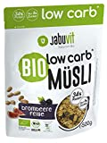 JabuVit Low-Carb Bio Müsli - 37% Protein - wenig Kohlenhydrate und nur ca 5% Zucker - 500 g (Brombeer-Feige)