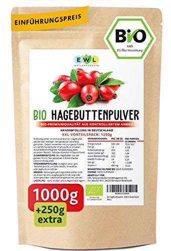 Bio Hagebuttenpulver Bio 1000g + 250g extra XXL...