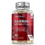 Raspberry Ketone Plus - Himbeerketon hochdosiert mit Superfoods - Mit Green Coffee, Garcinia & Grüntee - Appetitzügler - Keto Nahrungsergänzung - 180 Kapseln vegan
