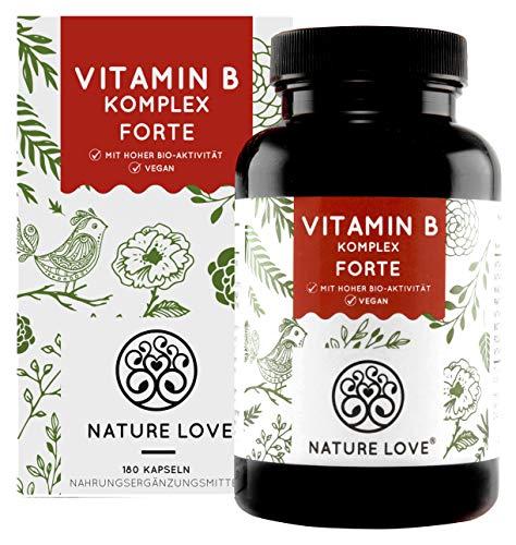 NATURE LOVE® Vitamin B Komplex Forte - Mit 500...