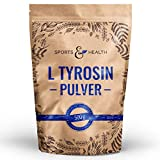 Tyrosin Pulver - 500g Pulver - 1,5g L-Tyrosin Pulver Pro Tagesdosierung - Mit Extra Messlöffel - Eigene Produktion - L Tyrosin
