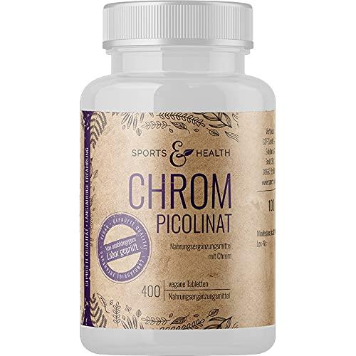 Chrom Tabletten - Chrom Picolinat - 400 Tabletten...