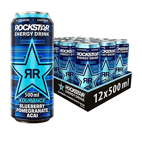 Rockstar Energy Drink XDurance Blueberry -...