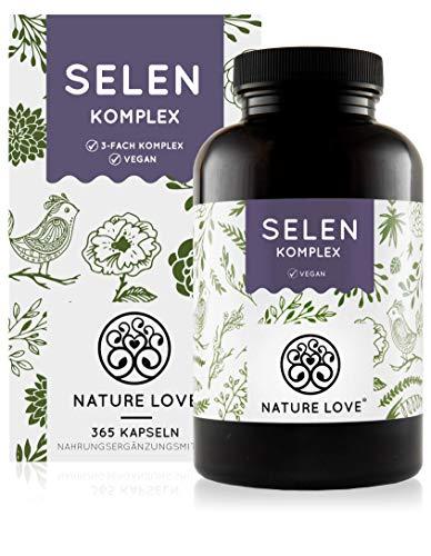 NATURE LOVE® Selen Komplex Vegan - 200µg Selen...