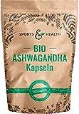 Ashwagandha Kapseln Bio - 200 Ashwaganda Kapseln Bio - Aus Kontrolliert Biologischem Anbau - Beste Qualität- Abgefüllt In Deutschland - Bio Aschwaganda Kapseln