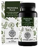 NATURE LOVE® Probiona PLUS - 120 Mrd KBE je Tagesdosis (hochdosiert) - 20 Bakterienstämme + Bio Inulin - Magensaftresistente Kapseln - Vegan
