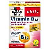 Doppelherz Vitamin B12 – Energie und Leistungsfähigkeit für Körper und Geist – Vitamin B12 zur Verringerung von Müdigkeit und Erschöpfung – 1 x 30 Tabletten