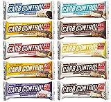 Body Attack Carb Control, Proteinriegel ohne Zuckerzusatz, Low Carb – High Protein 45%, Eiweißriegel mit Whey, Made in Germany, Mix-Box (15 x 100g)
